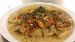 Braised Fennel and Pan-Seared Salmon